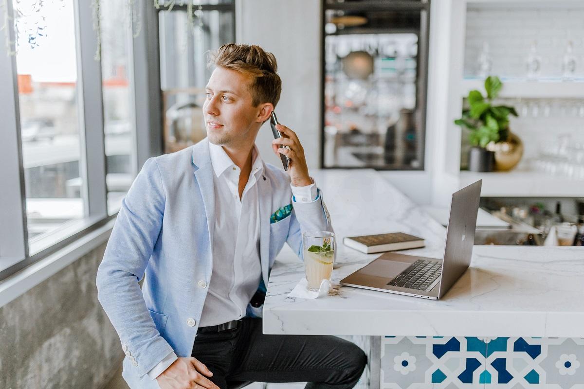 Man taking a phone call