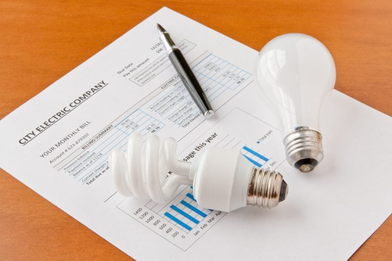 house bill and light bulb