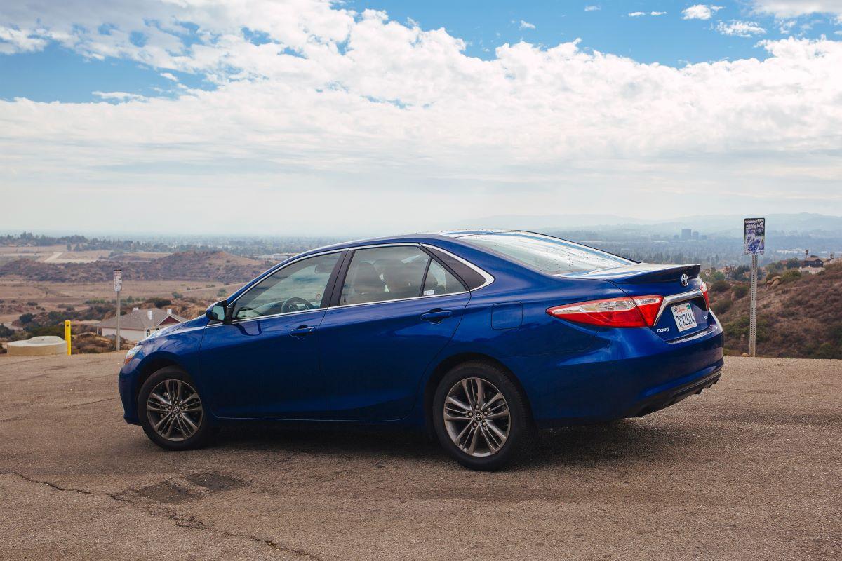 blue toyota sedan