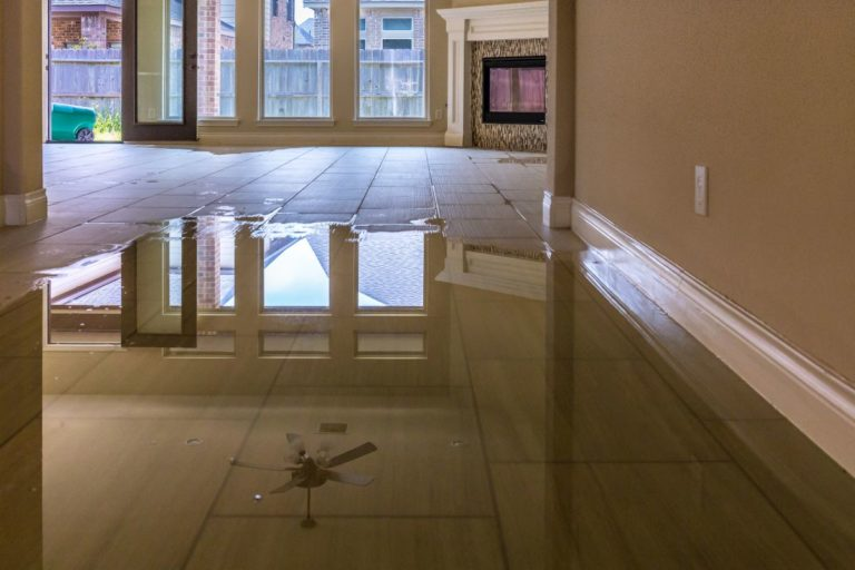flooded flooring