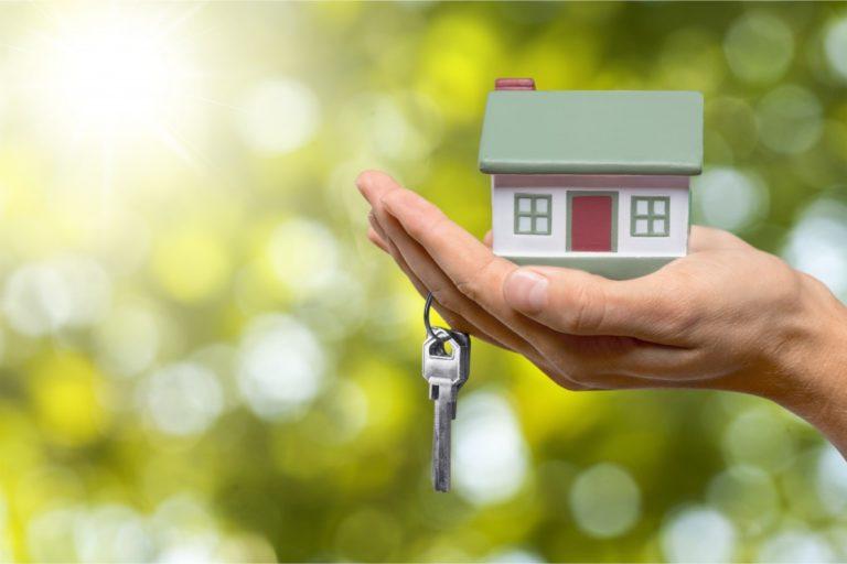 miniature house and house keys