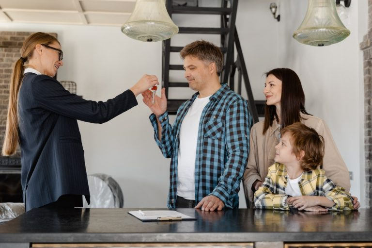 family and a real estate agent