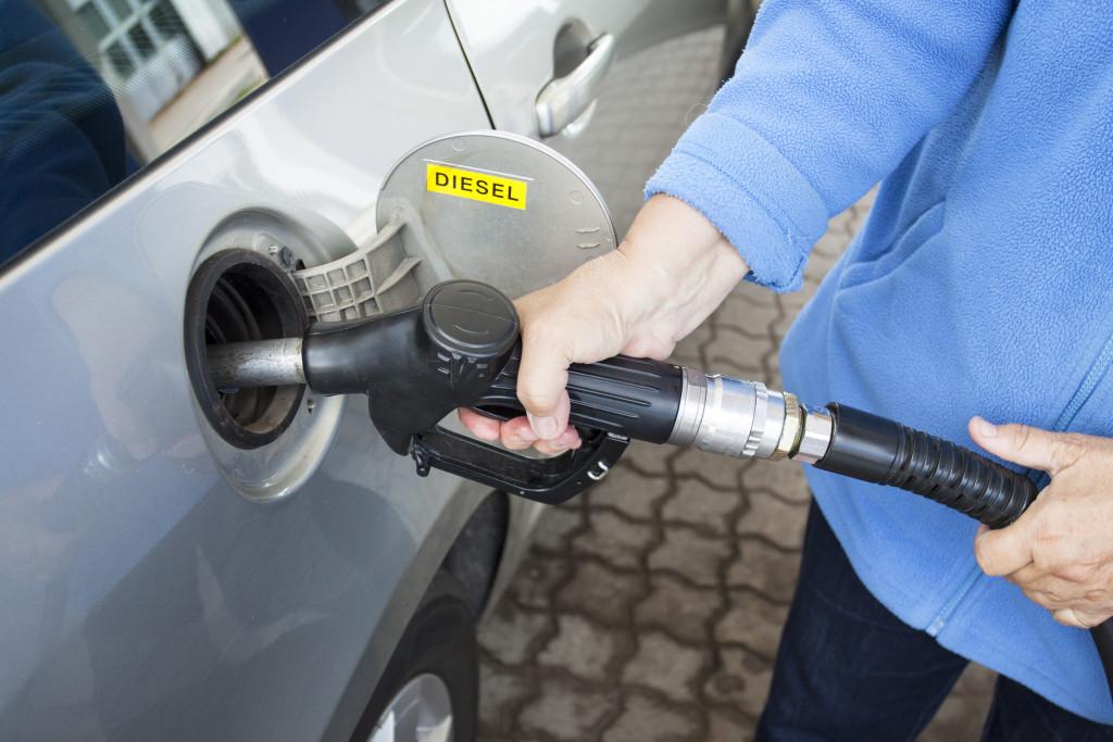 car getting fuel