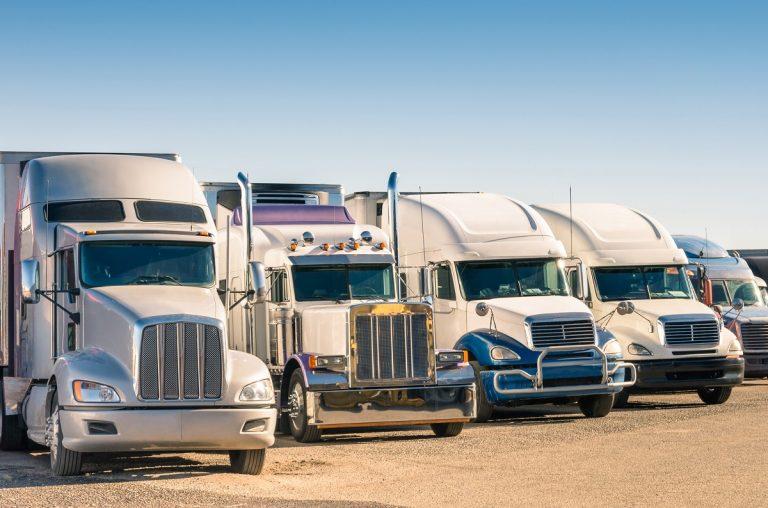 truck parking lot