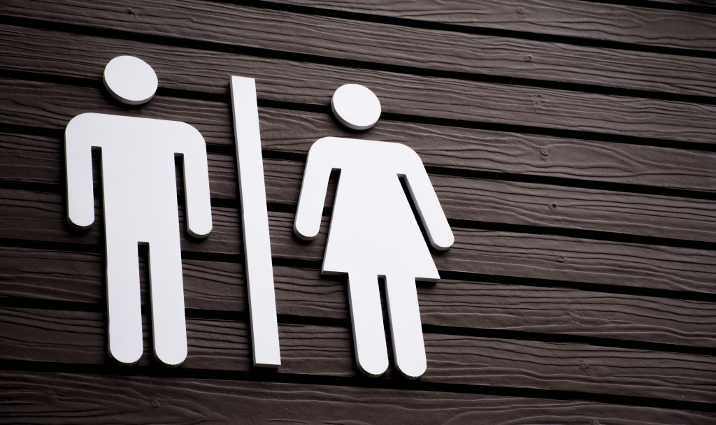 male and female signage