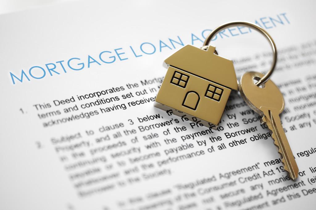 mortgage loan written on paper